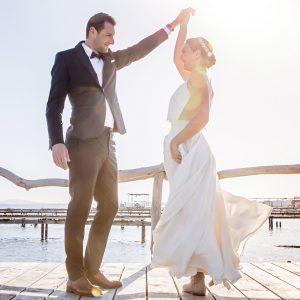 shooting mariage, robes de mariée sur mesure