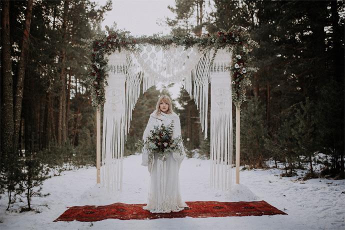 robe de mariée creatrice mariage en hiver