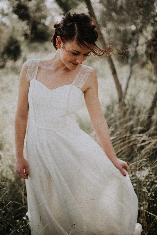 Robe de mariée sur mesure créatrice