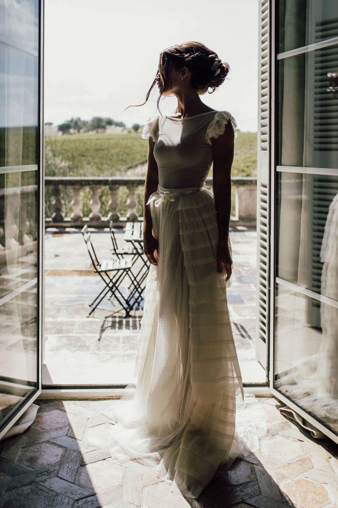 robe de mariée moderne romantique créatrice